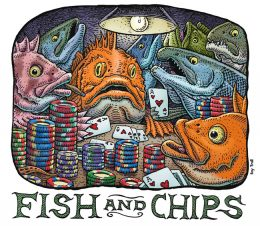 FISH AND CHIPS ART POSTER