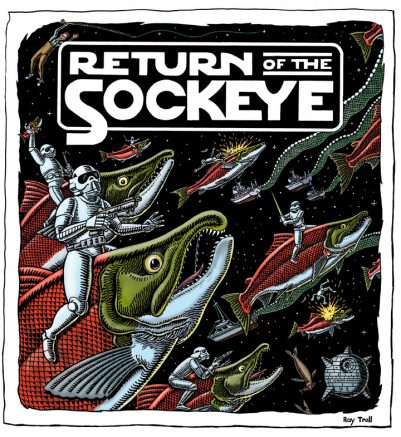 RETURN OF THE SOCKEYE ART POSTER