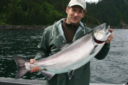 Gary Staab and his beautiful King Salmon. He took it back to Missouri to make a mould for the bronze sculpture.