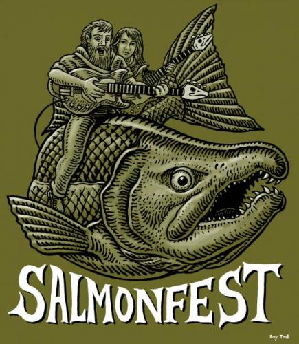 2019 Salmonfest Couple Monochrome