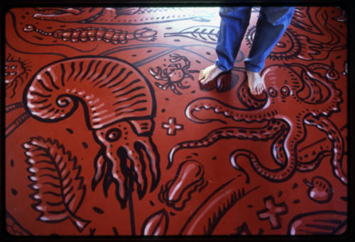 Hand painted floor, private residence