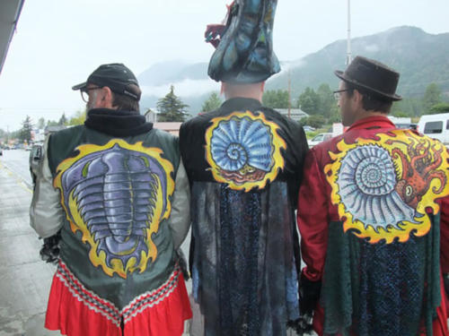 Some fine trilobite and ammonite jackets designed with Halli Kenoyer