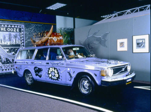 The Evolvo art car at the Denver Museum of Nature and Science in 1999