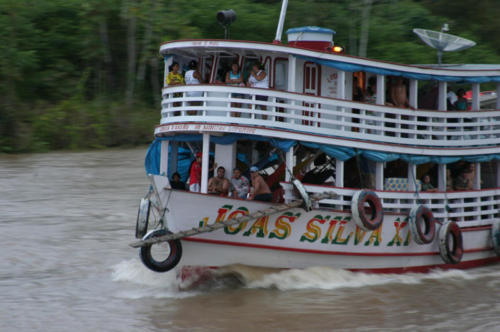 River boat on the Solimoes River, the main body of the Amazon