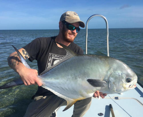 Kyle Sawyer and a lovely Permit fish