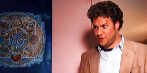 Seth Rogen in 'Pineapple Express' with my mandala poster