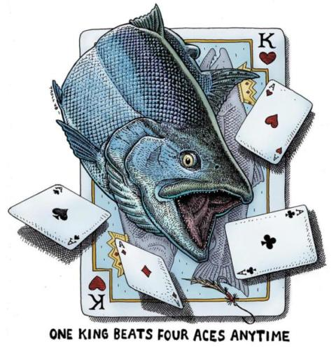 One King Beats Four Aces