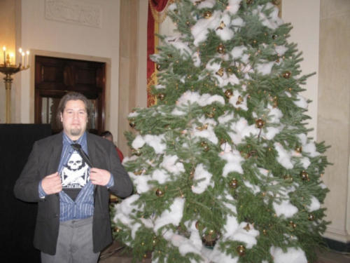 Tommy Joseph represents while at the White House Christmas tree celebration back in the day...