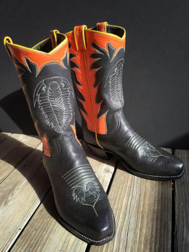 The world's only pair of Trilo-Boots created by Chase Deforrest