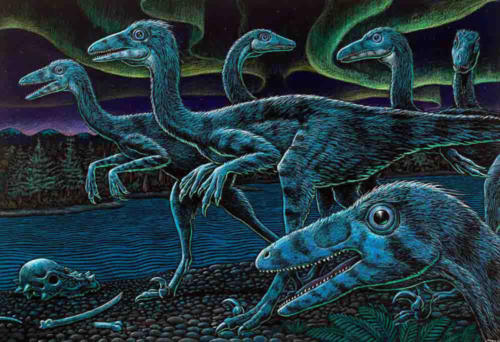 Troodon Pack in the Polar Night