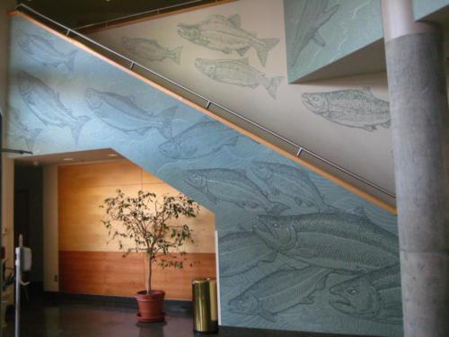 Salmon stairway at UAS, Juneau