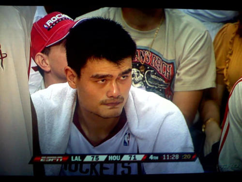 Yao Ming eye to eye with Deadman's Reach