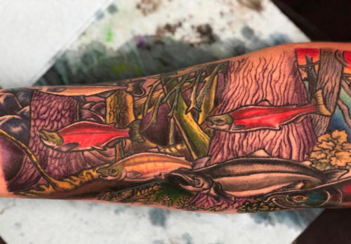A tattoo of my 'Deep Forest' art