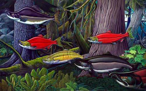 Deep Forest, oil on canvas, 2007, 8 ft x 13 ft