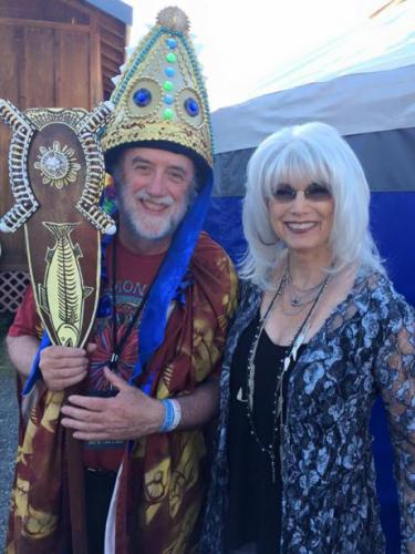 Emmylou Harris and I backstage at Salmonfest