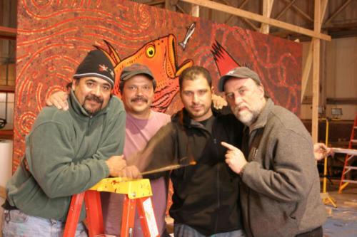 Roberto Salas, Will Burkhart, Memo Jauergui and yours truly