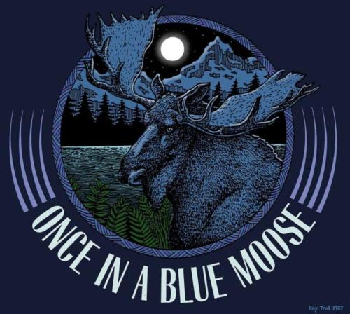 Once in a Blue Moose logo design