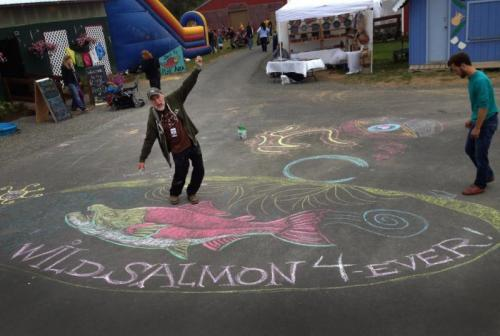 Ray Wild Salmon chalk