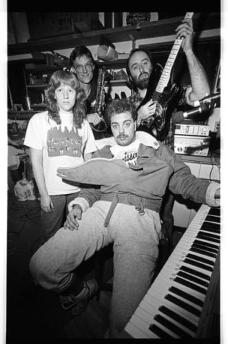 The Squawking Fish circa 1986, with Carolyn Minor, Craig Koch, Russ and Ray