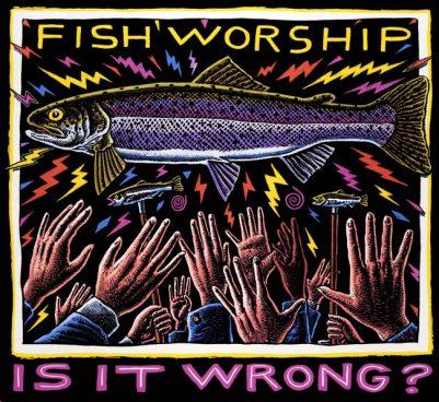 FISH WORSHIP ART POSTER