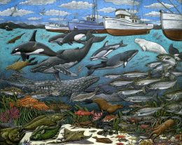 NORTH PACIFIC MARINE LIFE ART POSTER