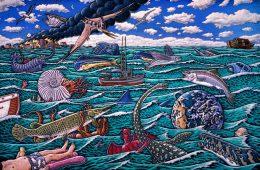 PLANET OCEAN ART POSTER