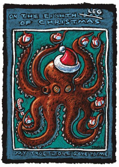 EIGHTH LEG OF CHRISTMAS CARD PACK