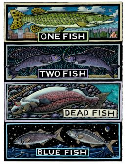 ONE FISH TWO FISH ART POSTER